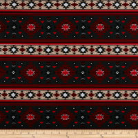 Beaded Print Aztec Red/Black
