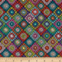 Stof France LeQuilt Santorin Purple/Multi