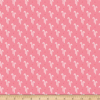 Riley Blake Cozy Christmas Candy Canes Pink