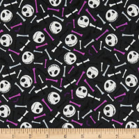 Jack is Back Skull & Bones in Glow in the Dark Purple
