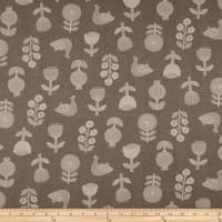 Cosmo Hummingbird II Cotton/Linen Birds And Flowers Toss Tan
