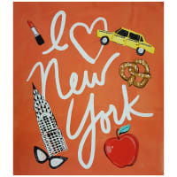 "Camelot City Girl I Love NYC 36"" Panel Red"