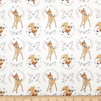 Disney Sentimental Sweet Bambi in White with Metallic Copper