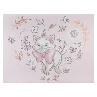"Disney Sentimental Marie 36"" Panel Pink with Metallic Copper"