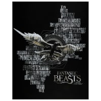 "Wizarding World Fantastic Beasts 36"" Panel in Black"