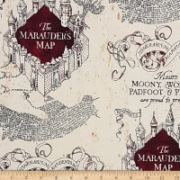 Wizarding World Marauders Map Knit in Tan