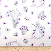Disney Forever Princess Rapunzel Toile in Purple