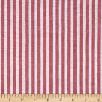 "1/4"" Stretch Seersucker Stripe Red"