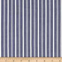 Cotton Tencel Twill Stripe Blue
