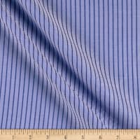 Tencel Poly Challis Stripe Sky/Navy