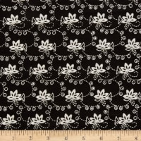 Cotton Eyelet Embroidery Black