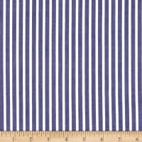 Cotton Lawn Stripe Navy