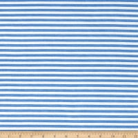 "1/4"" Stretch Rayon Stripe Jersey Knit Blue"