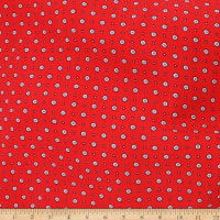 Telio Colorado Polyester Faille Foulard Print Red