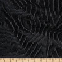 Telio Knit Velvet Burnnout Stripe Metallic Black