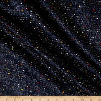 Telio Celia Poly Tweed Metallic Navy