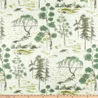 P/Kaufmann West Lake Linen Toile Celadon