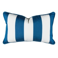 "Sunbrella 12"" x 20"" Pillow With Welt & Dacron Insert Cabana Regatta"