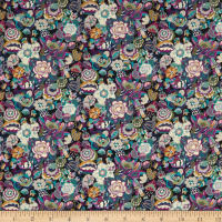 Liberty Fabrics Tana Lawn Gatsby Garden Small Purple/Multi