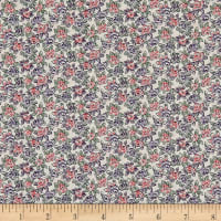 Liberty Fabrics Tana Lawn Deco Rose Purple/Red