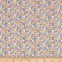 Liberty Fabrics Tana Lawn Deco Rose Pink/Yellow