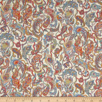 Liberty Fabrics Tana Lawn Falling Feather Orange/Multi