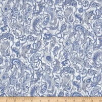 Liberty Fabrics Tana Lawn Falling Feather Blue