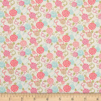 Liberty Fabrics Tana Lawn Ribbon Bloom Pink