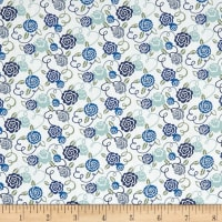 Liberty Fabrics Tana Lawn Ribbon Bloom Blue