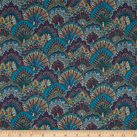Liberty Fabrics Tana Lawn Peacock Parade Purple/Multi