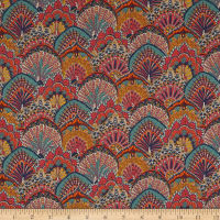 Liberty Fabrics Tana Lawn Peacock Parade Orange/Multi
