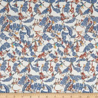 Liberty Fabrics Tana Lawn Tree Tops Blue/Orange