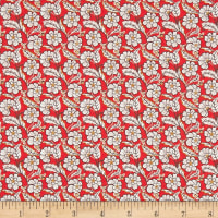 Liberty Fabrics Tana Lawn Chester Row Red