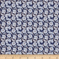Liberty Fabrics Tana Lawn Chester Row Blue