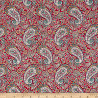 Liberty Fabrics Tana Lawn Lee Manor Red/Multi