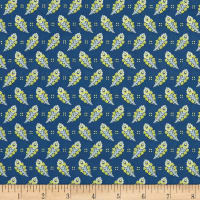 Liberty Fabrics Tana Lawn Paisley Feather Blue