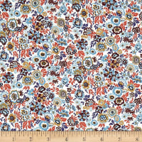 Liberty Fabrics Tana Lawn Floral Jazz Orange/Multi