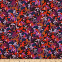 Liberty Fabrics Tana Lawn Camo Flower Orange/Multi