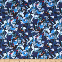 Liberty Fabrics Tana Lawn Camo Flower Blue/Multi