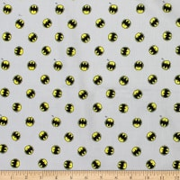 DC Justice League Activated Batman Logo Toss Light Grey