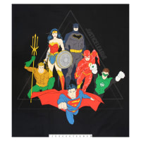 """DC Justice League Activated Justice League Pyramid 36"""" Panel Black"""