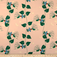 Birch Organic Fabrics Backyard Hummingbirds Blush