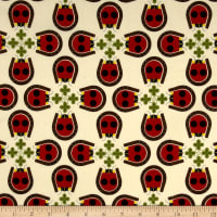 Birch Organic Fabrics Backyard Lucky Ladybug Cream/Red