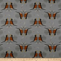 Birch Organic Fabrics Backyard Round Robin Grey