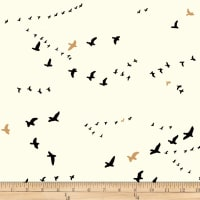 Birch Organic Fabrics Inkwell Flight Black/Metallic