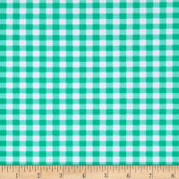 Swimwear Nylon Spandex Gingham Mint