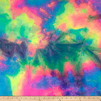 Swimwear Nylon Spandex Tye Dye Pink/Yellow