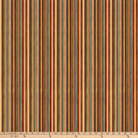 Autumn Woods Multi Color Stripe Brown