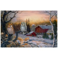 "Nightfall Digital Owl 28"" Panel Multi"