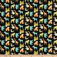Safari Swank Animal Toss Black Multi